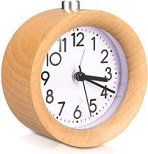 Réveil analogique en bois avec snooze - horloge