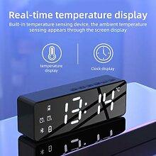 Réveil classique sans fil Bluetooth, affichage