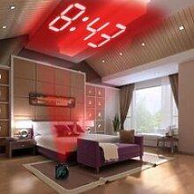 Réveil de projection multifonctions LED