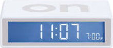 Réveil Flip LCD - Lexon blanc en matière