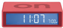 Réveil Flip LCD - Lexon rouge en matière