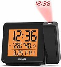 Réveil Horloge de projection Alarme (Color : EU)