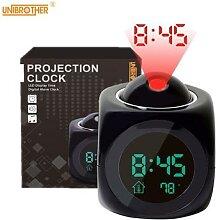 Réveil/horloge numérique avec projecteur,