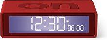 Réveil LCD réversible ON-OFF en ABS Rouge