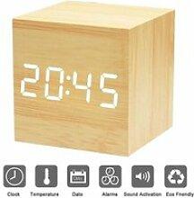 Réveil Matin Horloge Digital Cube avec Activation