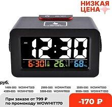 Réveil numérique avec thermomètre et