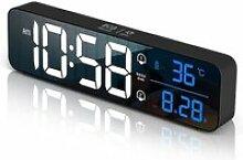 Réveil Numérique Horloge Numérique LED Horloge