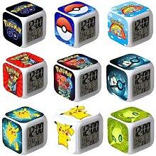 Réveil Pokemon de poche, horloge numérique