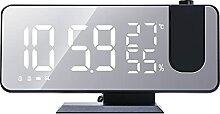 Reveil Projecteur Plafond Radio Piloté Horloge