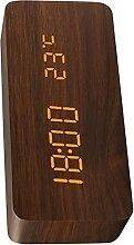 Réveil,réveil en bois,USB horloge de réveil de