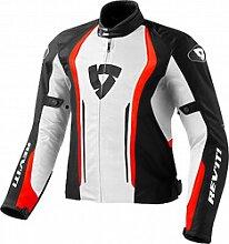 Revit Airforce veste textile male    - Blanc/Rouge