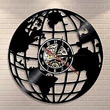 RFTGH 3D Terre Horloge Murale Globe Carte Décor
