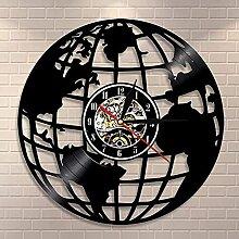 RFTGH 3D Terre Horloge Murale Intérieur Carte du