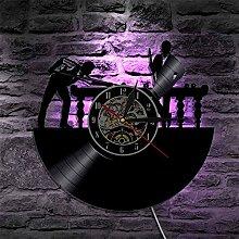 RFTGH Billard LED Horloge Murale Billard Billard