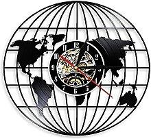 RFTGH Carte de Voyage Horloge Murale Carte du
