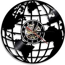RFTGH Disque Vinyle Art Mural Carte du Monde
