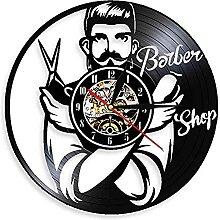 RFTGH Esthéticienne rétro Disque Vinyle Horloge