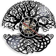 RFTGH Forêt Dense Plante Vinyle Horloge Murale