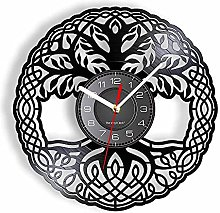 RFTGH Horloge Murale Arbre de Vie en Disque gravé