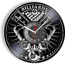RFTGH Jeu de Billard Mode Horloge Murale Piscine