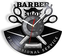 RFTGH Outils de barbier Horloge Murale en Vrai