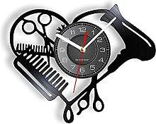 RFTGH Outils de Coiffure Laser Cut Horloge Murale