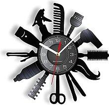 RFTGH Salon de beauté décoratif Horloge Murale