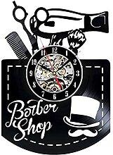 RFTGH Salon de Coiffure Horloge Murale Design