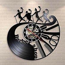 RFTGH Salon de Coiffure Outils Horloge Murale