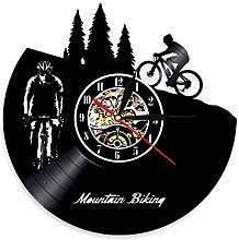 RFTGH VTT Disque Vinyle Horloge Murale Free Rider