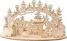 RG-FA Décoration de Noël en bois - Bonhomme de