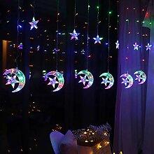 RH-ZTGY LED Rideaux Lumières, 2.5M × 1M Rideau