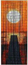 Rideau bambou, rideau de porte bambou, Coucher de