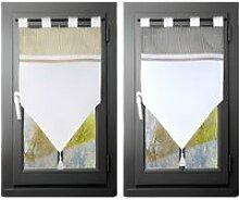 Rideau brise-bise - 45 x 60 cm - Angèle - Deux