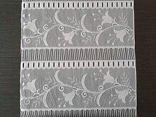 Rideau brise-bise blanc 45 cm de largeur motif