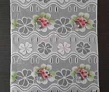 Rideau brise-bise coloré 45 cm de largeur motif