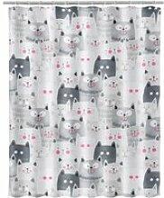 Rideau de douche chats