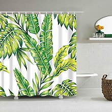 Rideau de douche en bambou avec crochets Motif
