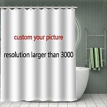 Rideau de douche en bambou et Polyester avec motif