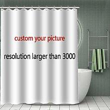 Rideau de douche en bambou personnalisé, rideau