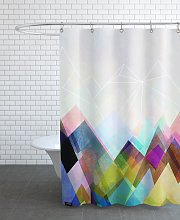 Rideau de douche en polyester en Blanc &