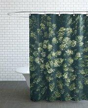 Rideau de douche en polyester en Vert/150x200
