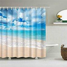 Rideau de douche en tissu, ensemble de rideaux de