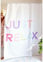 Rideau de douche en tissu Relax Multicouleur Sklum