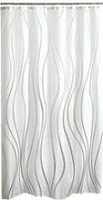 Rideau de douche glitter blanc