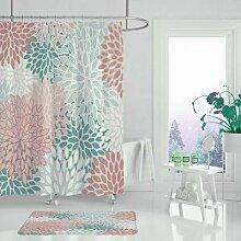 Rideau de douche imperméable en polyester,