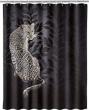Rideau de douche léopard 180x200cm