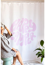 Rideau de douche Pirsis Blanc - Rose Néon Sklum