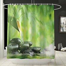 Rideau de douche Tente de douche vert bambou de