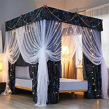 Rideau de lit à poteau Princesse 3 ouvertures